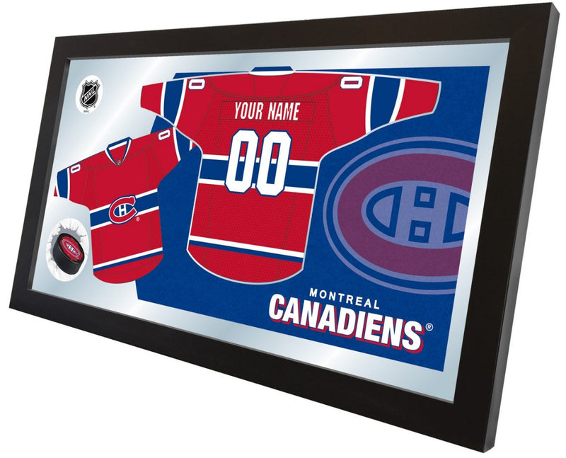 Montreal Canadiens NHL Jersey Mirror (side view)