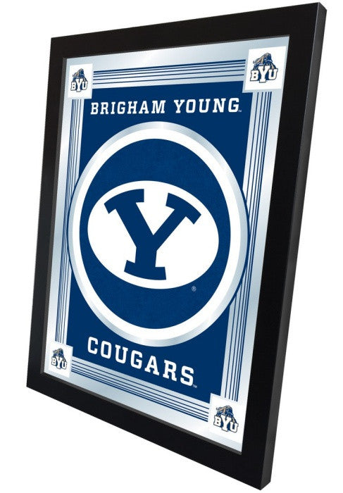 Brigham Young Cougars Logo Mirror (side view)
