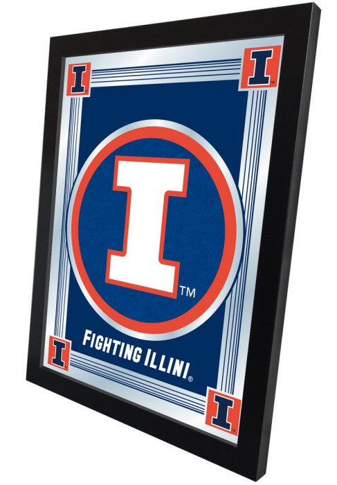 Illinois Fighting Illini Logo Mirror (side view)