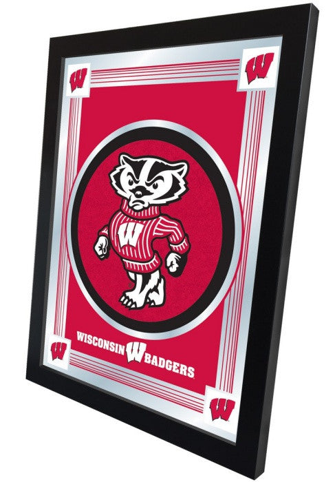 "Wisconsin Badgers ""Bucky"" Logo Mirror (side view)"