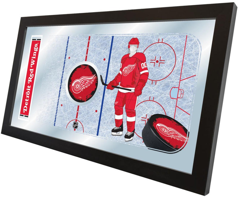 Detroit Red Wings NHL Rink Mirror (side view)