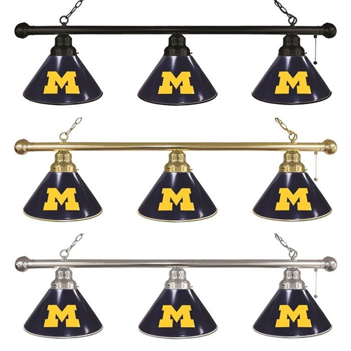 Michigan Wolverines 3-Shade Billiard Light - Sports Fans Plus - 1