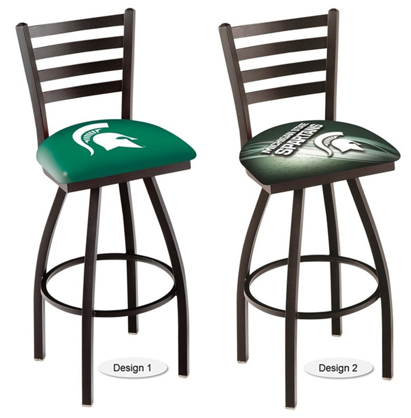 Michigan State Spartans Ladder Back Bar Stool