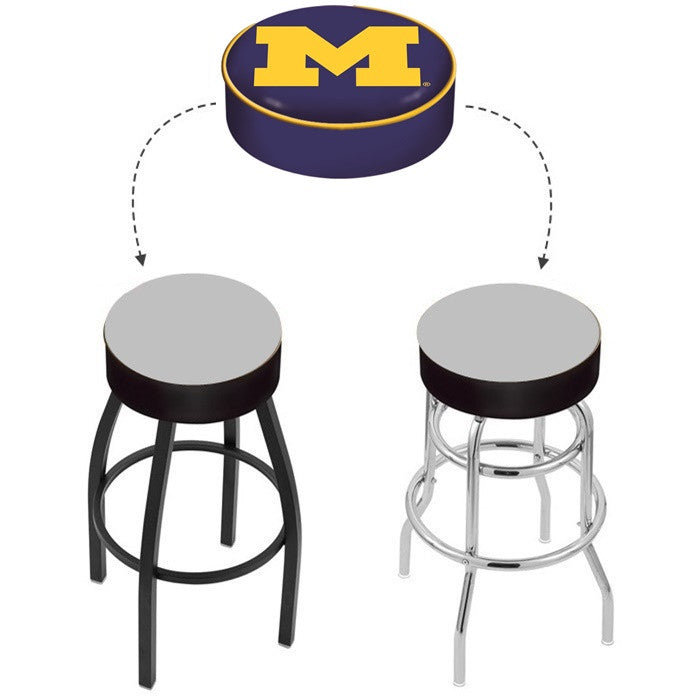 Michigan Wolverines Bar Stool Seat Cover - Sports Fans Plus - 1