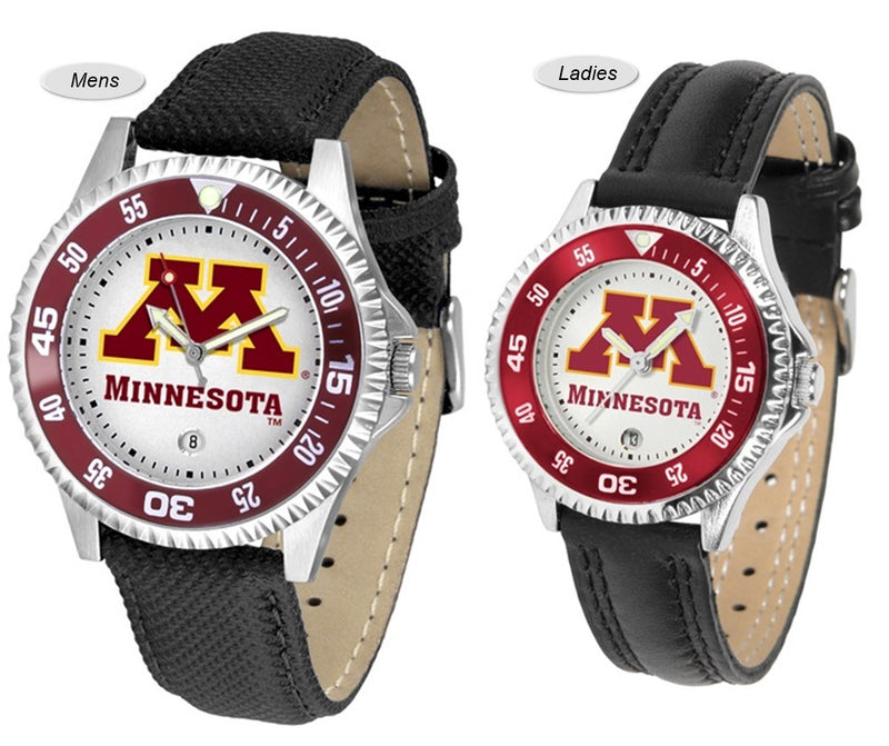 Minnesota Golden Gophers Competitor Sport Leather Watch