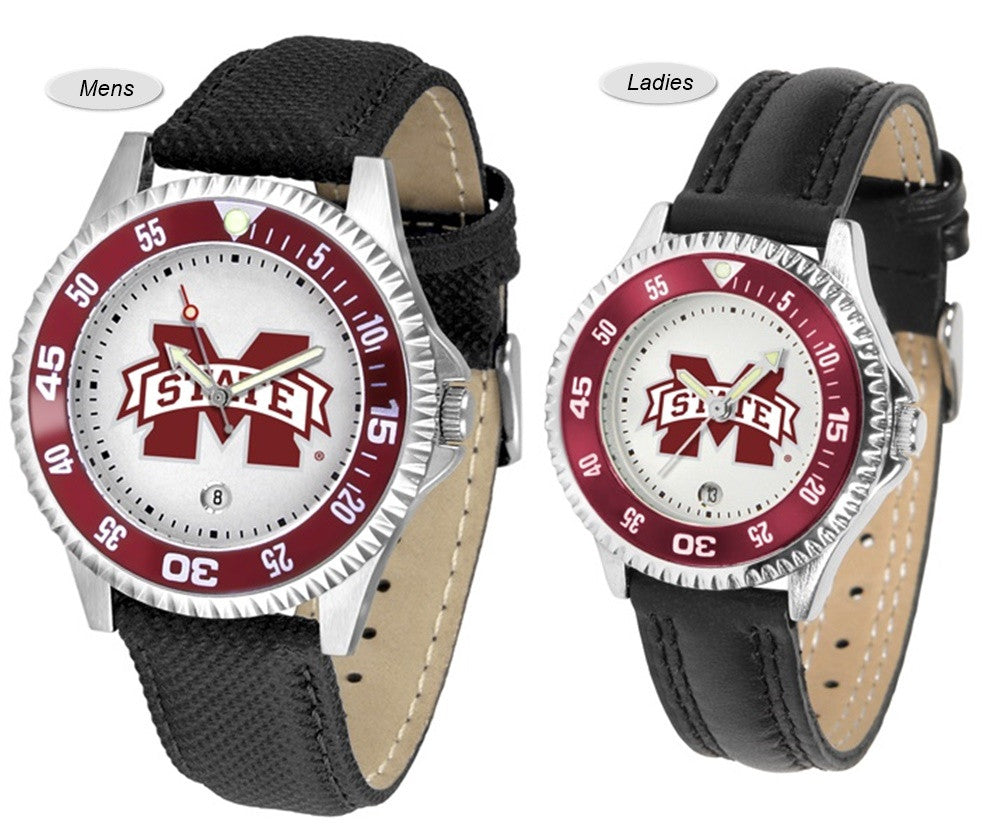Mississippi State Bulldogs Competitor Sport Leather Watch