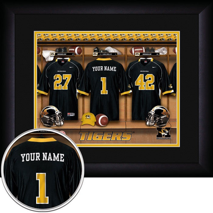 Missouri Tigers Personalized Locker Room Print - Sports Fans Plus  - 1