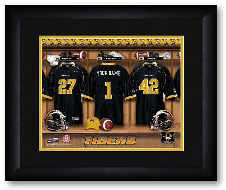 Missouri Tigers Personalized Locker Room Print - Sports Fans Plus  - 2