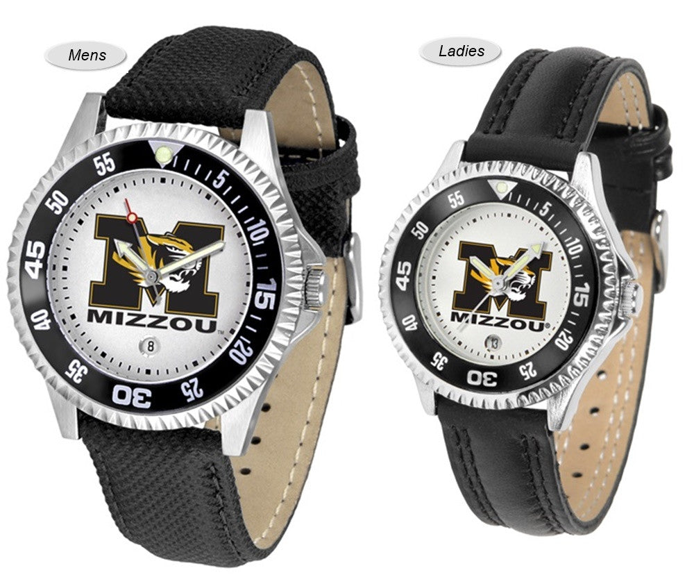 Missouri Tigers Competitor Sport Leather Watch