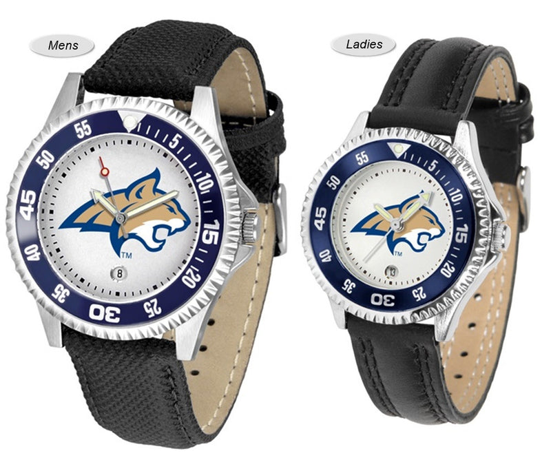 Montana State Bobcats Competitor Sport Leather Watch