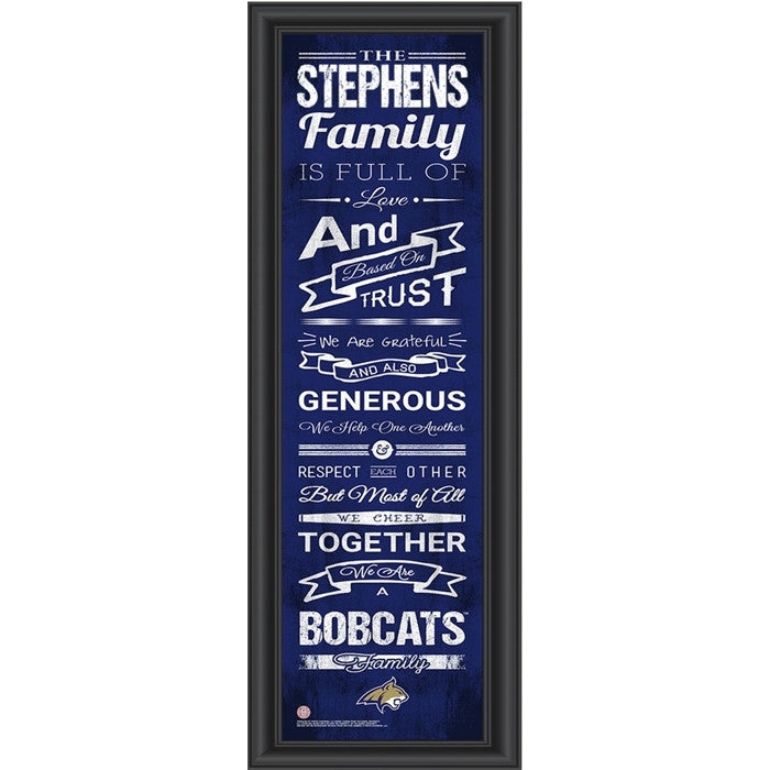 Montana State Bobcats Personalized Family Cheer Print - Sports Fans Plus