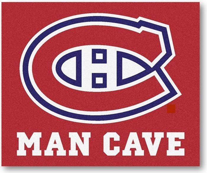 Montreal Canadiens NHL Man Cave Tailgate Rug - Sports Fans Plus