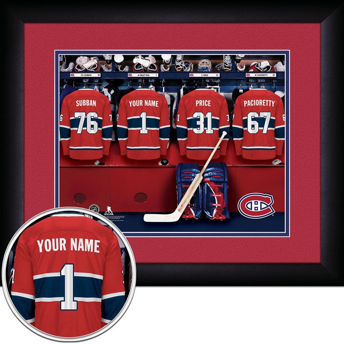 Montreal Canadiens NHL Personalized Locker Room Print - Sports Fans Plus  - 1