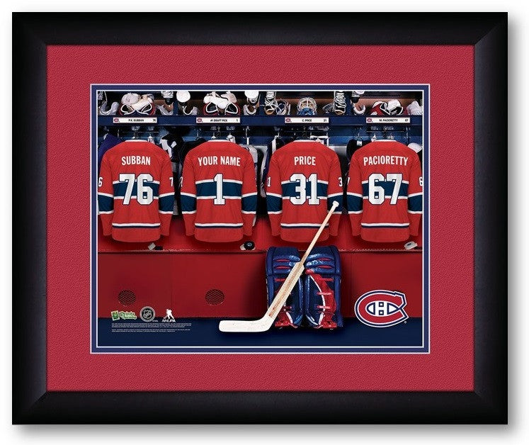 Montreal Canadiens NHL Personalized Locker Room Print - Sports Fans Plus  - 2