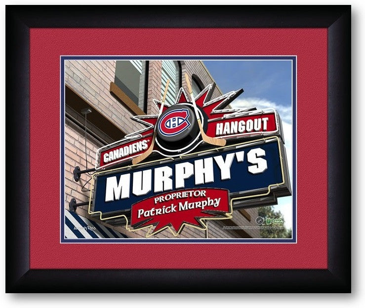 Montreal Canadiens NHL Personalized Pub Print - Sports Fans Plus  - 2