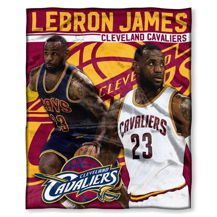 Cleveland Cavaliers Lebron James NBA Players HD Silk Touch Throw