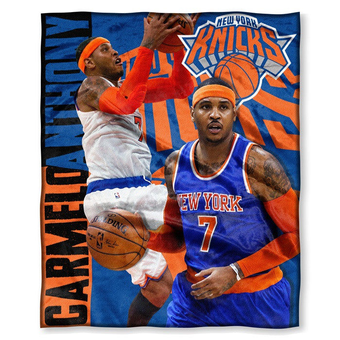 New York Knicks Carmelo Anthony NBA Players HD Silk Touch Throw