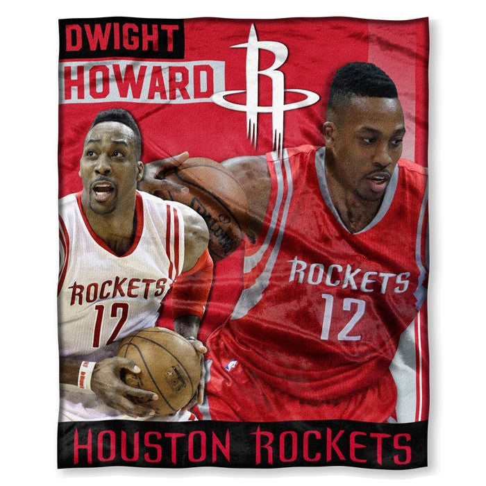 Houston Rockets Dwight Howard NBA Players HD Silk Touch Throw