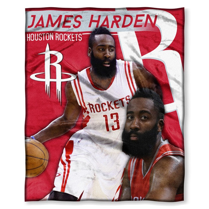 Houston Rockets James Harden NBA Players HD Silk Touch Throw