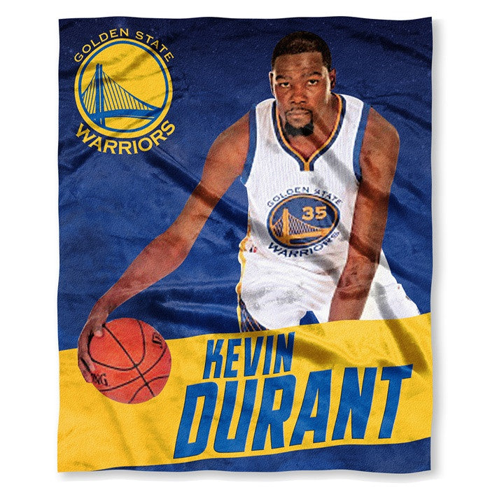 Golden State Warriors Kevin Durant NBA Players HD Silk Touch Throw