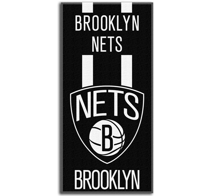Brooklyn Nets NBA Zone Read Beach Towel