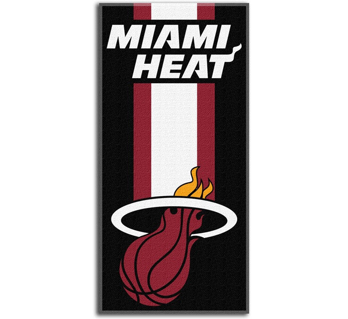 Miami Heat NBA Zone Read Beach Towel