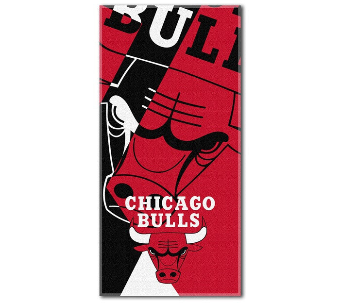 Chicago Bulls NBA Puzzle Beach Towel