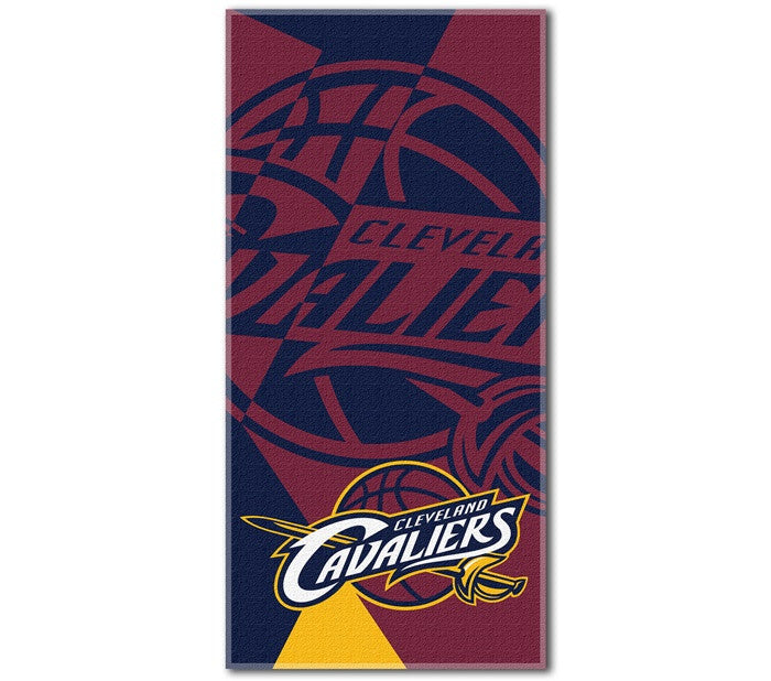 Cleveland Cavaliers NBA Puzzle Beach Towel