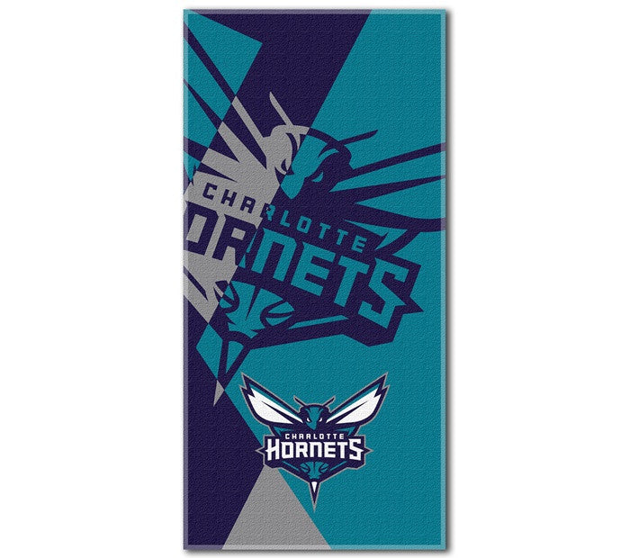 Charlotte Hornets NBA Puzzle Beach Towel