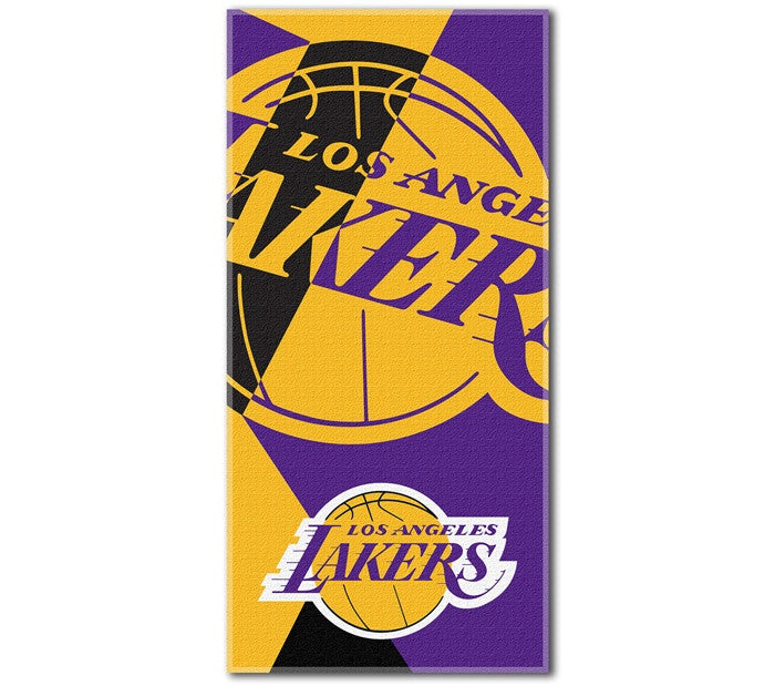 Los Angeles Lakers NBA Puzzle Beach Towel