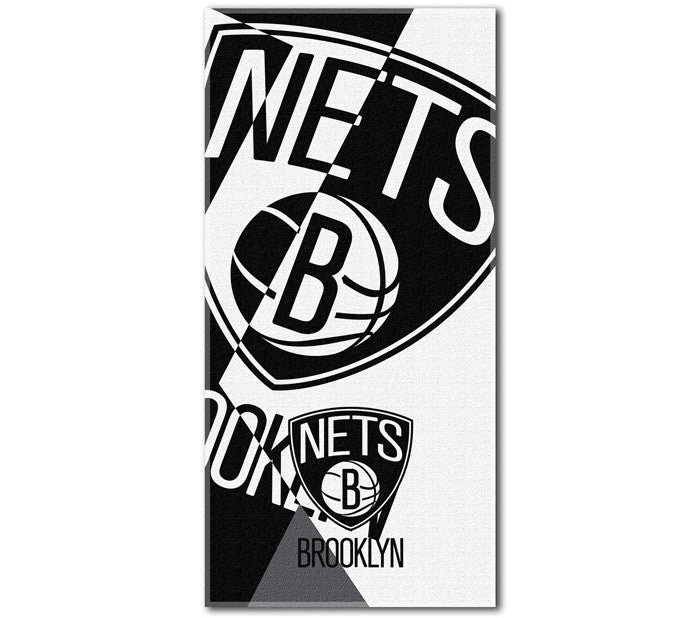 Brooklyn Nets NBA Puzzle Beach Towel