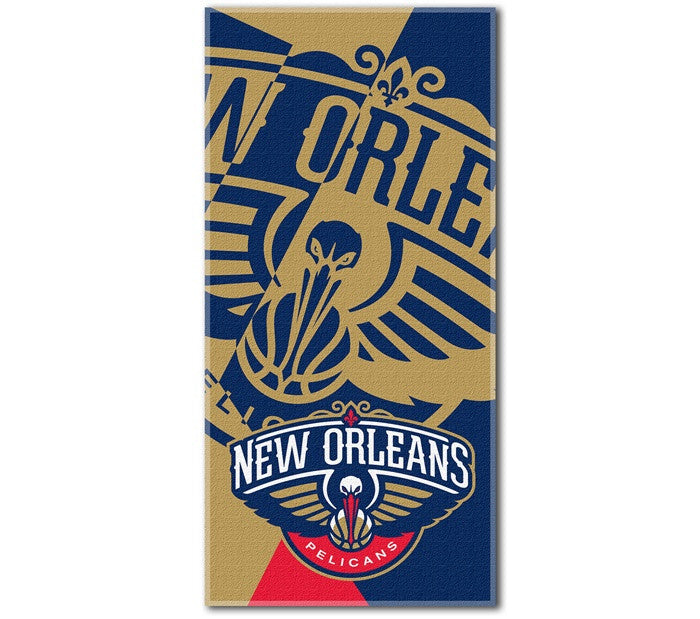 New Orleans Pelicans NBA Puzzle Beach Towel