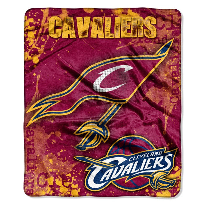 Cleveland Cavaliers NBA Dropdown Raschel Throw