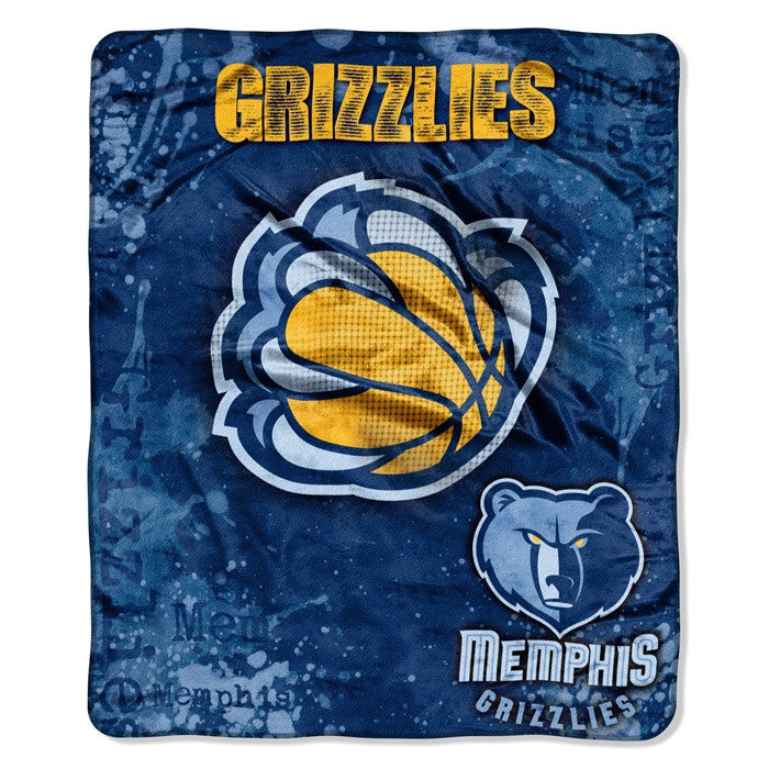 Memphis Grizzlies NBA Dropdown Raschel Throw