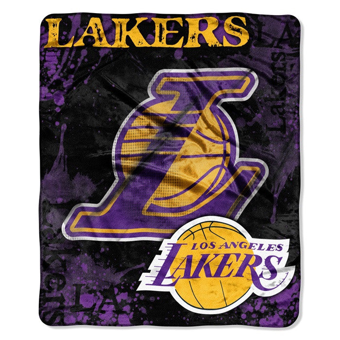 Los Angeles Lakers NBA Dropdown Raschel Throw