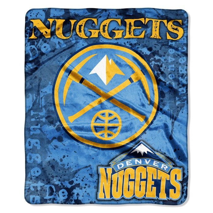 Denver Nuggets NBA Dropdown Raschel Throw