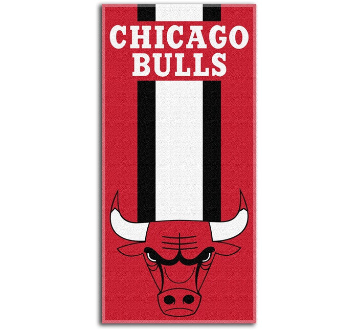 Chicago Bulls NBA Zone Read Beach Towel