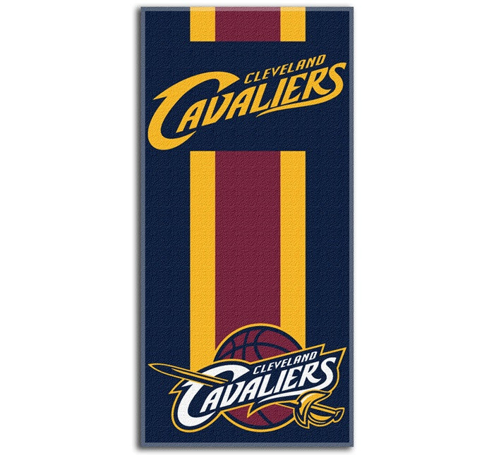 Cleveland Cavaliers NBA Zone Read Beach Towel