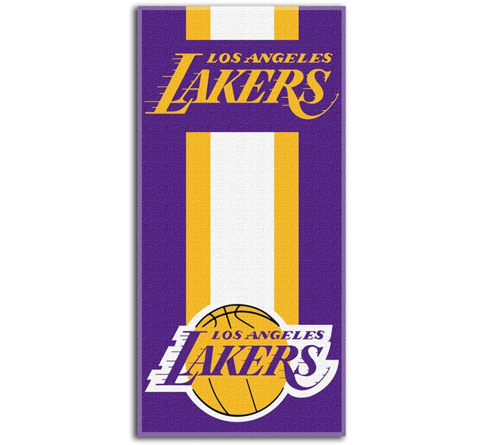 Los Angeles Lakers NBA Zone Read Beach Towel
