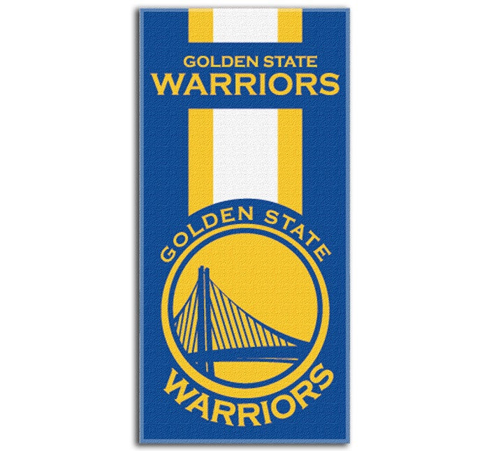 Golden State Warriors NBA Zone Read Beach Towel