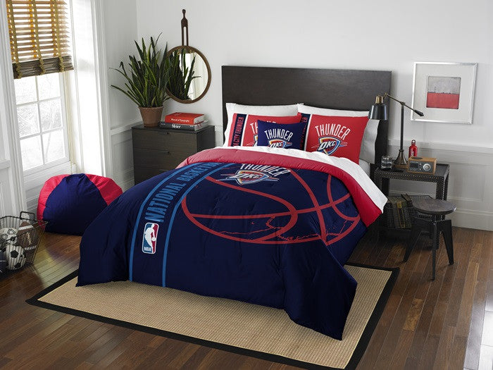 Oklahoma City Thunder NBA Full Comforter Set - Sports Fans Plus
