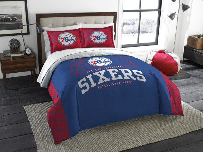 Philadelphia 76ers NBA Reverse Slam Full-Queen Comforter Set