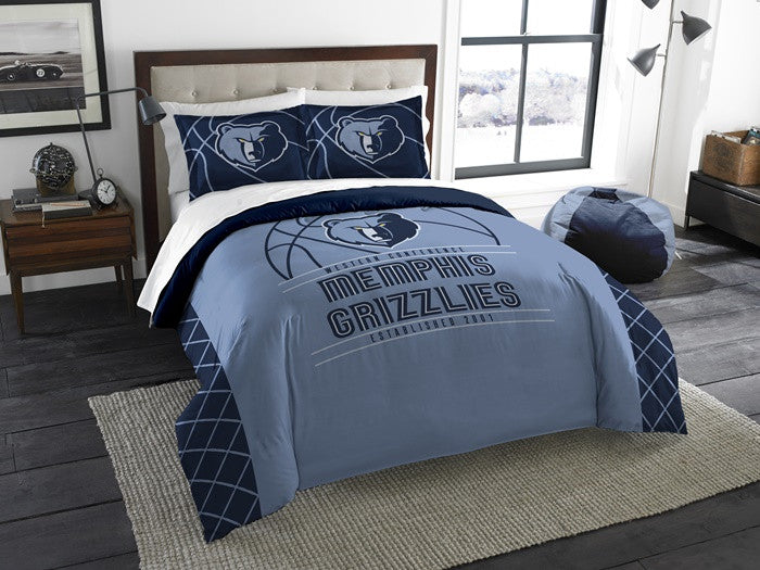 Memphis Grizzlies NBA Reverse Slam Full-Queen Comforter Set