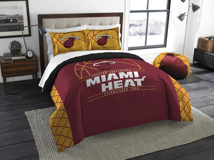 Miami Heat NBA Reverse Slam Full-Queen Comforter Set