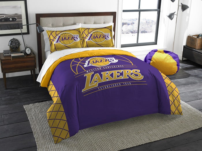Los Angeles Lakers NBA Reverse Slam Full-Queen Comforter Set