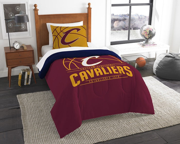 Cleveland Cavaliers NBA Reverse Slam Twin Comforter and Sham Set