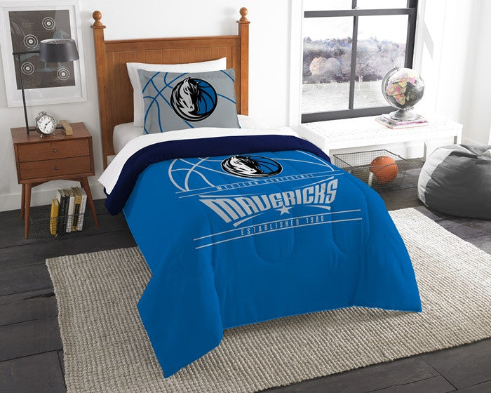 Dallas Mavericks NBA Reverse Slam Twin Comforter and Sham Set