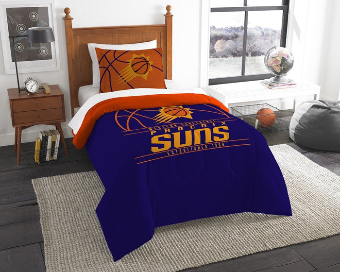Phoenix Suns NBA Reverse Slam Twin Comforter and Sham Set