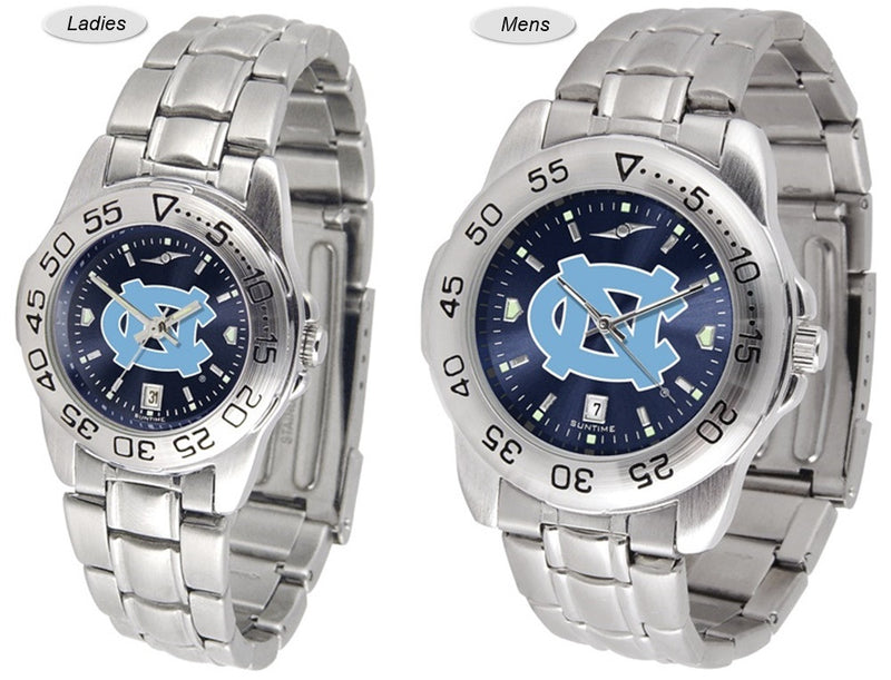 North Carolina Tar Heels Sport Steel AnoChrome Watch