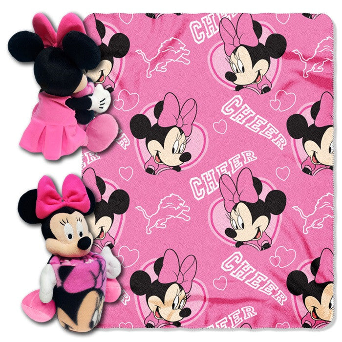 Detroit Lions NFL Minnie Mouse Hugger with Throw - Sports Fans Plus